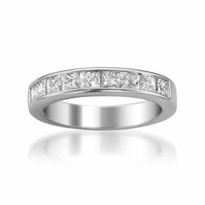 Womens 4 Mm 1 1/2 CT. T.W. White Diamond 14K Gold Wedding Band