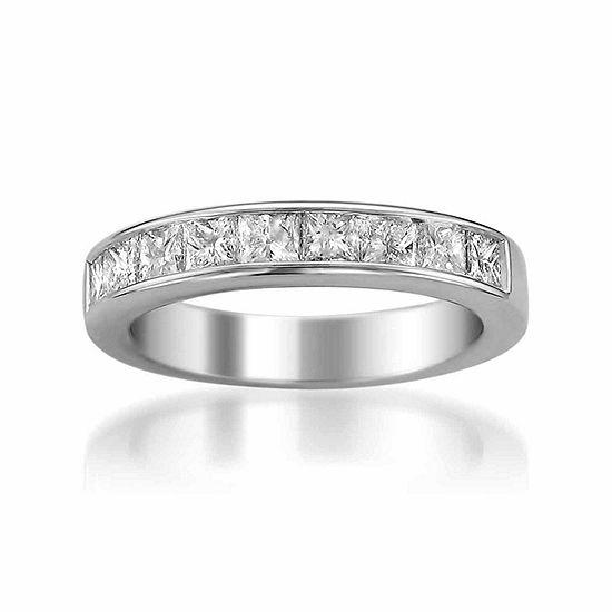 Womens 4 Mm 1 1/2 CT. T.W. Genuine White Diamond 14K Gold Wedding Band