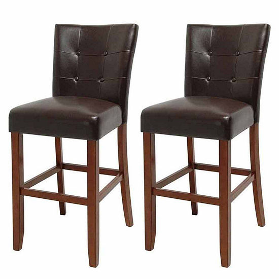 Steve Silver Co Maxton 2 Pc Upholstered Tufted Bar Stool