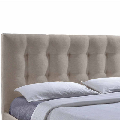 Baxton Studio Sarter Contemporary Grid-Tufted Upholstered 2-Drawer Storage Bed
