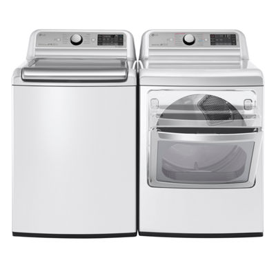 LG 7.3 cu.ft. Ultra-Large Gas TurboSteam™ Dryer with SteamSanitary™