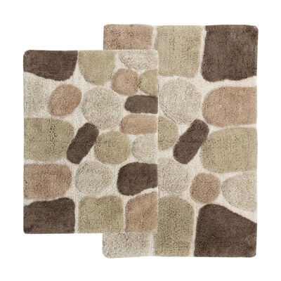Chesapeake Merchandising Pebbles 2 Pc. Bath Rug Set
