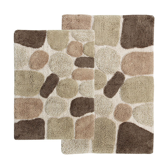 Chesapeake Merchandising Pebbles 2 Pc Bath Rug Set