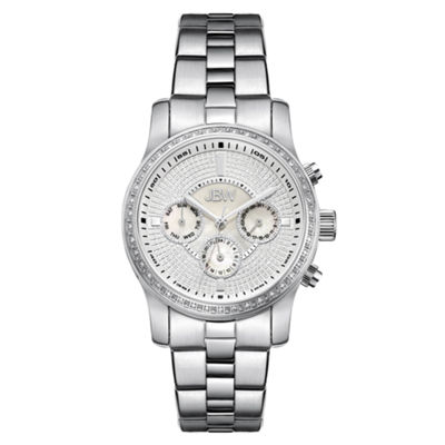 JBW Womens Diamond-Accent Stainless Steel Bracelet Watch J6327A