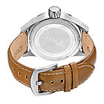 JBW Rook Mens Diamond-Accent Brown Leather Strap Watch J6287B