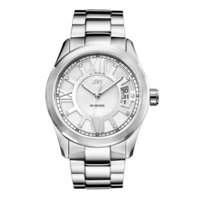 JBW Bond Mens Diamond-Accent Stainless Steel Watch J6311B