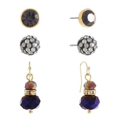 Liz Claiborne Womens 3 Pair Purple Jewelry Set