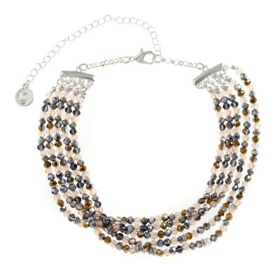 Liz Claiborne Womens Clear Choker Necklace