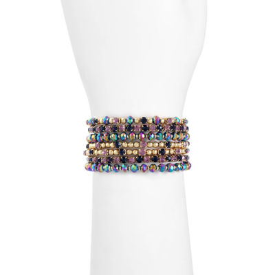 Liz Claiborne Womens Purple Beaded Bracelet