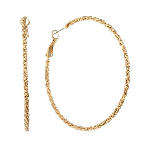 Monet Jewelry 60mm Hoop Earrings