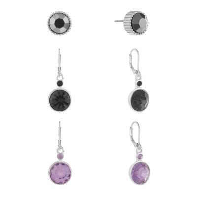Liz Claiborne 3 Pair Multi Color Earring Sets