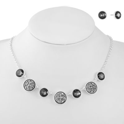 Liz Claiborne Womens 2-pc. Gray Jewelry Set