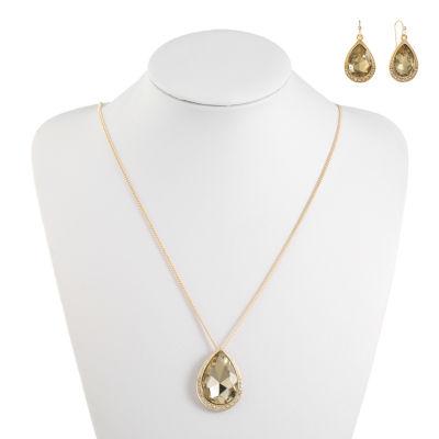 Monet Jewelry Womens 2-pc. Brown Jewelry Set