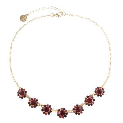 Liz Claiborne Womens Red Collar Necklace