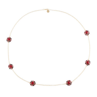 Liz Claiborne Womens Red Strand Necklace