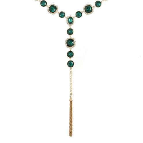 Monet Jewelry Womens Green Pendant Necklace