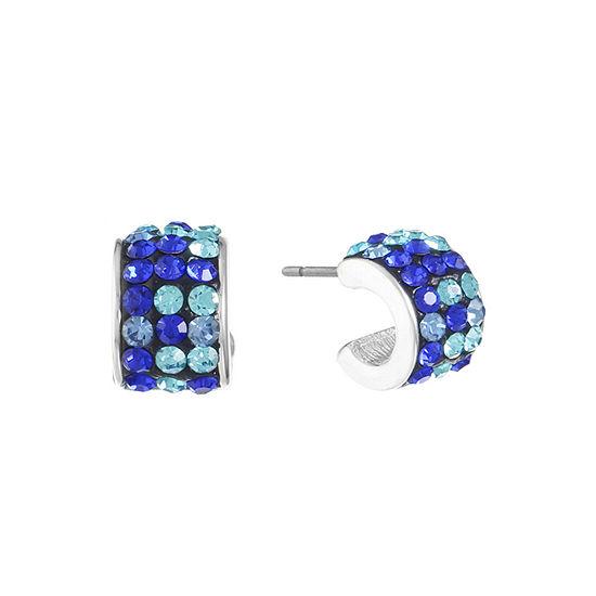 Liz Claiborne Blue 14mm Hoop Earrings