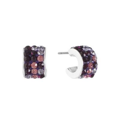 Liz Claiborne Purple Hoop Earrings