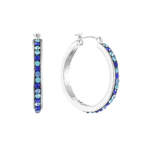 Liz Claiborne Blue Hoop Earrings