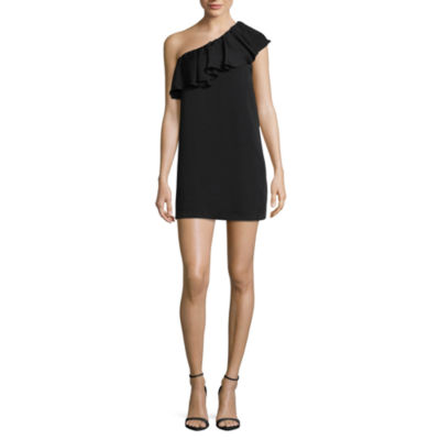 Kelly Renee One Shoulder Ruffle Shift Dress