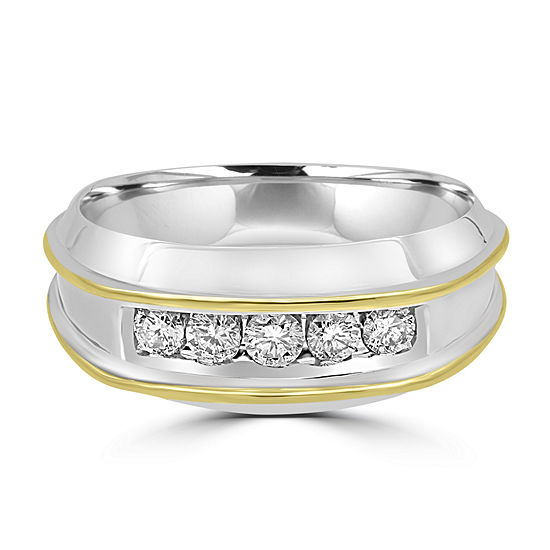 1/2 CT. T.W. Genuine Diamond 10K Gold Round Band