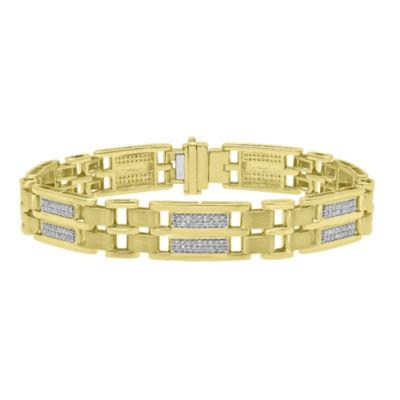 10K Gold 8 1/2 Inch Casted Link Bracelet