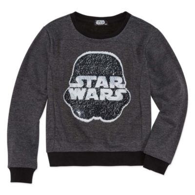 Star WarsReverse Sequin Sweatshirt - Big Kid Girls
