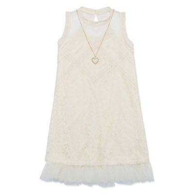 Knit Works Sleeveless Cold Shoulder Sleeve Skater Dress - Big Kid Girls