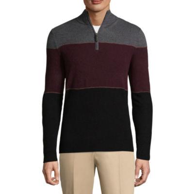Dockers Mock Neck Long Sleeve Acrylic Pullover Sweater