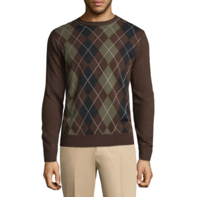 Dockers Crew Neck Long Sleeve Acrylic Pullover Sweater