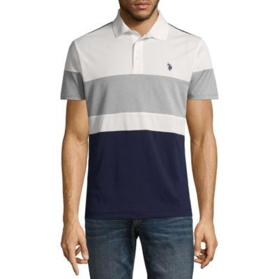 U.S. Polo Assn. Short Sleeve Wrinkle Resistant Performance Polo Shirt
