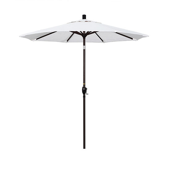 California Umbrella 7.5' Pacific Trail Series Pacifica Patio Umbrella With Bronze Aluminum Pole Aluminum Ribs Push Button Tilt Crank Lift