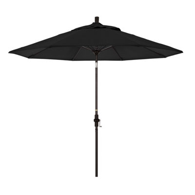 California Umbrella 9' Sun Master Series Pacifica Patio Umbrella With Bronze Aluminum Pole Fiberglass Ribs Collar Tilt Crank Lift