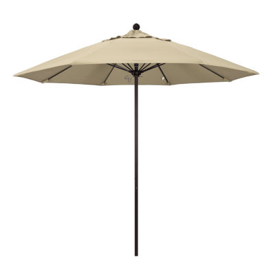 California Umbrella 9' Venture Series Pacifica Patio Umbrella With Bronze Aluminum Pole Fiberglass Ribs Push Lift
