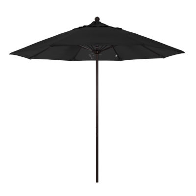 California Umbrella 9' Venture Series Pacifica Patio Umbrella With Bronze Aluminum Pole Fiberglass Ribs Push Lift