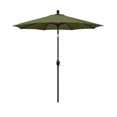 California Umbrella 7.5' Pacific Trail Series Olefin Patio Umbrella With Bronze Aluminum Pole Aluminum Ribs Push Button Tilt Crank Lift