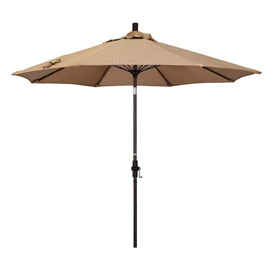 California Umbrella 9 Sun Master Series Olefin Patio With Bronze Aluminum Pole Fibergl Ribs Collar Tilt Crank Lift Jcpenney