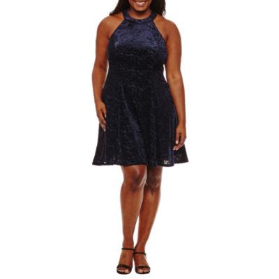 City Triangle Sleeveless Party Dress-Juniors Plus
