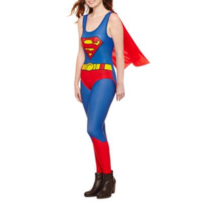 Superman Cape Bodysuit-Juniors