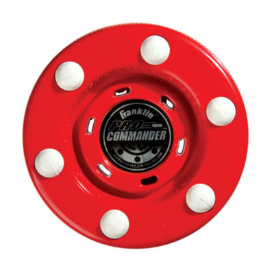 Franklin Sports NHL Pro Commander Puck Red