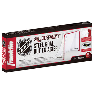 "Franklin Sports 72"" NHL Quikset Steel Hockey Goal"""