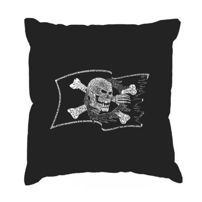 Los Angeles Pop Art FAMOUS PIRATE CAPTAINS AND SHIPS Throw Pillow Cover