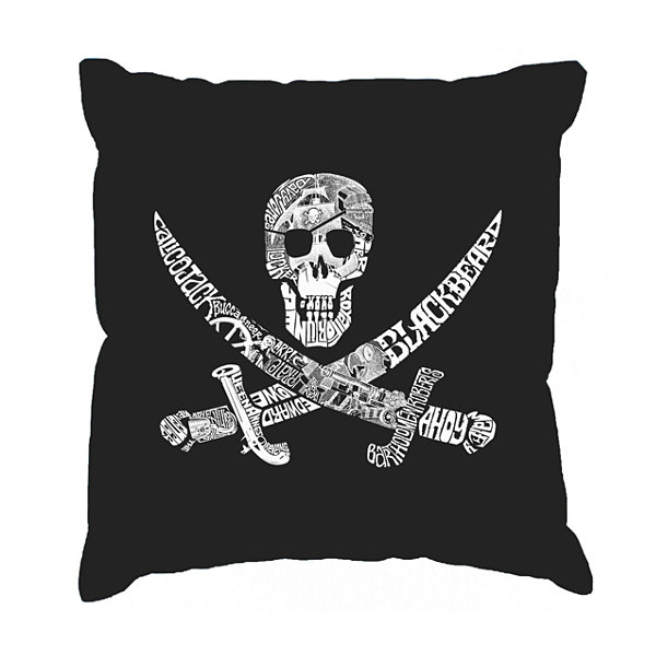 Los Angeles Pop Art PIRATE CAPTAINS SHIPS AND IMAGERY Throw Pillow Cover