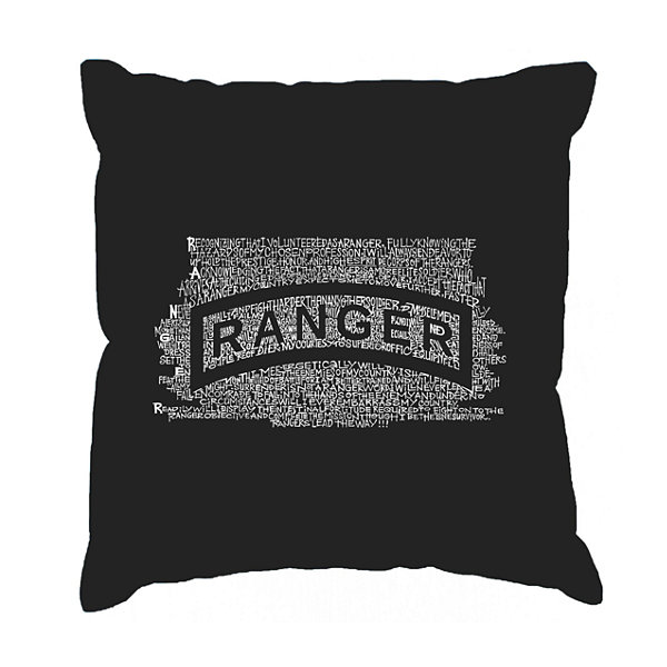 Los Angeles Pop Art The US Ranger Creed Throw Pillow Cover