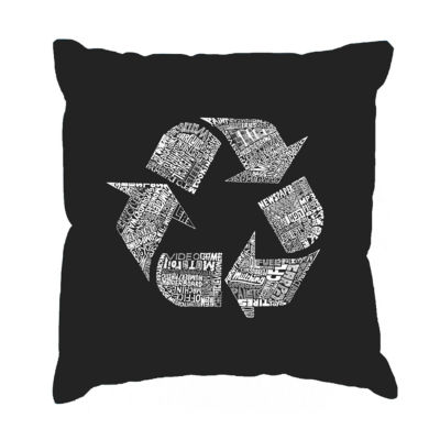 Los Angeles Pop Art 86 RECYCLABLE PRODUCTS Throw Pillow Cover