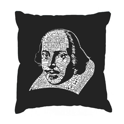 Los Angeles Pop Art THE TITLES OF ALL OF WILLIAM SHAKESPEARE's COMEDIES & TRAGEDIES Throw Pillow Cover
