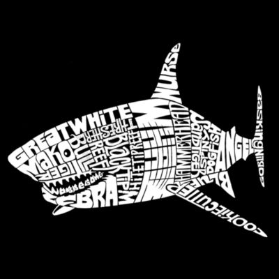 Los Angeles Pop Art SPECIES OF SHARK Throw PillowCover