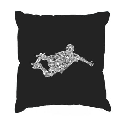 Los Angeles Pop Art POPULAR SKATING MOVES & TRICKSThrow Pillow Cover
