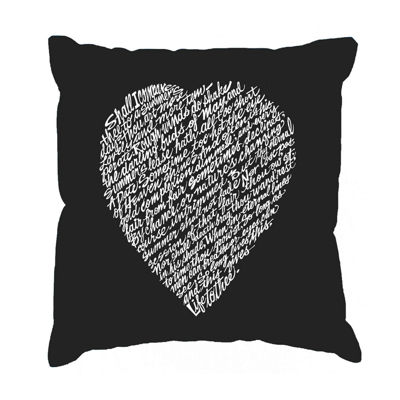 Los Angeles Pop Art WILLIAM SHAKESPEARE's SONNET 18 Throw Pillow Cover