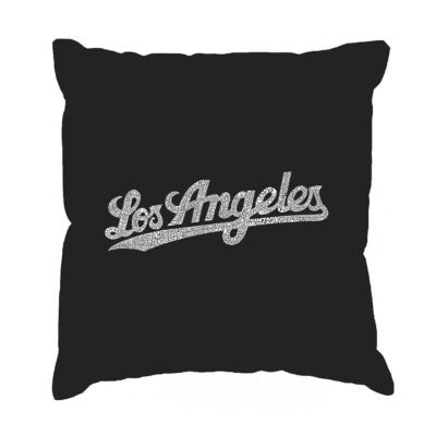 Los Angeles Pop Art LOS ANGELES NEIGHBORHOODS Throw Pillow Cover